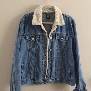 GAP Jean Jacket Sherpa collar XL T